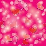 Modelo inconsútil del día de tarjeta del día de San Valentín con los corazones Foto de archivo libre de regalías