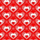 Modelo inconsútil del día de tarjetas del día de San Valentín Fotos de archivo