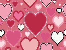 Modelo inconsútil del día de tarjetas del día de San Valentín Foto de archivo libre de regalías