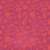 Modelo inconsútil del día de tarjetas del día de San Valentín Libre Illustration