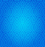 Modelo inconsútil del damasco azul Imagen de archivo