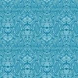 Modelo inconsútil del damasco floral adornado Por todo fondo del vector de la simetría de la impresión Estilo femenino de la moda stock de ilustración