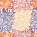 Modelo inconsútil del edredón rayado y a cuadros del grunge colorido Foto de archivo
