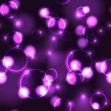 Modelo inconsútil del efecto violeta de neón del bokeh stock de ilustración