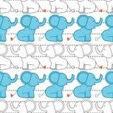 Modelo inconsútil del elefante Fotos de archivo