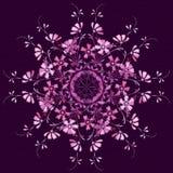 Modelo inconsútil del elemento retro floral de los círculos Imagen de archivo libre de regalías