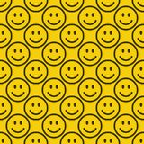 Modelo inconsútil del emoji Foto de archivo libre de regalías