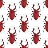 Modelo inconsútil del escarabajo del staghorn de la papiroflexia Imagenes de archivo