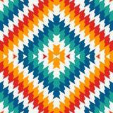 Modelo inconsútil del estilo étnico con las líneas del galón Ornamento de los nativos americanos Adorno tribal Papel pintado colo Imagen de archivo libre de regalías