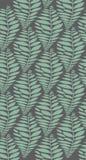 Modelo inconsútil del estilo del modelo de las hojas en fondo verde, la línea plana vector y el ejemplo fotos de archivo