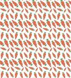 Modelo inconsútil del estilo del garabato con la zanahoria Puede ser utilizado para el PA Foto de archivo libre de regalías
