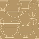 Modelo inconsútil del estilo griego nacional étnico de cerámica Fotos de archivo libres de regalías