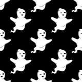 Modelo inconsútil del fantasma de Halloween Imágenes de archivo libres de regalías