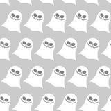 Modelo inconsútil del fantasma divertido blanco Fondos del vector para hola Fotografía de archivo libre de regalías
