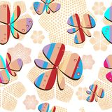 Modelo inconsútil del fondo abstracto con los diamantes artificiales de las flores Imagen de archivo libre de regalías