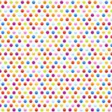 Modelo inconsútil del fondo con los puntos multicolores Foto de archivo libre de regalías