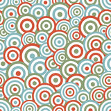 Modelo inconsútil del fondo del círculo abstracto Fotos de archivo