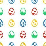 Modelo inconsútil del fondo del día de fiesta del icono de los huevos de Pascua Foto de archivo