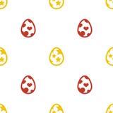 Modelo inconsútil del fondo del día de fiesta del icono de los huevos de Pascua Imagen de archivo