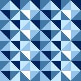 Modelo inconsútil del fondo del diamante en azul Foto de archivo