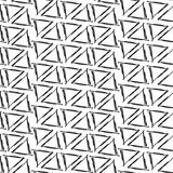 Modelo inconsútil del fondo simple de los triángulos del dibujo de la tinta Imagen de archivo libre de regalías