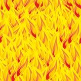 Modelo inconsútil del fuego Flamea el fondo Textura de la llama Yel caliente stock de ilustración