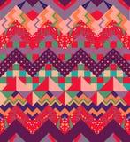 Modelo inconsútil del galón colorido Remiendo vibrante del zigzag Foto de archivo libre de regalías