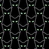 Modelo inconsútil del gato negro Fondos del vector para Halloween Th Imagen de archivo libre de regalías