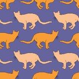 Modelo inconsútil del gato rojo Foto de archivo libre de regalías