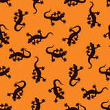Modelo inconsútil del Gecko Fotografía de archivo libre de regalías