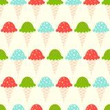 Modelo inconsútil del helado ilustración del vector