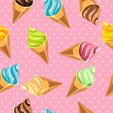 Modelo inconsútil del helado Foto de archivo libre de regalías