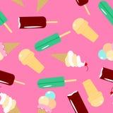 Modelo inconsútil del helado Colección de dulces libre illustration