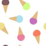 Modelo inconsútil del helado multicolor Imágenes de archivo libres de regalías