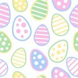 Modelo inconsútil del huevo de Pascua Fotos de archivo libres de regalías