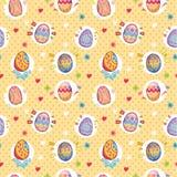 Modelo inconsútil del huevo de Pascua ilustración del vector