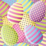 Modelo inconsútil del huevo de Pascua stock de ilustración