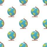 Modelo inconsútil del icono del mapa del mundo del globo ilustración del vector