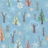Modelo inconsútil del invierno stock de ilustración
