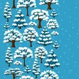 Modelo inconsútil del invierno con el extracto estilizado Fotografía de archivo libre de regalías