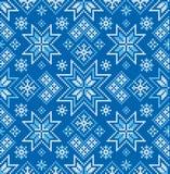 Modelo inconsútil del invierno Puntada cruzada Ornamento del vector fotos de archivo