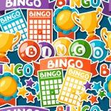 Modelo inconsútil del juego del bingo o de la lotería con las bolas Fotografía de archivo libre de regalías