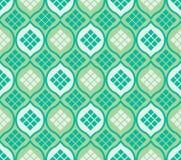 Modelo inconsútil del ketupat de la ventana del Islam ilustración del vector