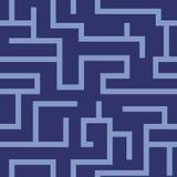 Modelo inconsútil del laberinto del vector Fotografía de archivo