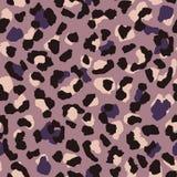 Modelo inconsútil del leopardo Papel pintado animal abstracto de la piel Púrpura y repetición rosada caliente de la textura de lo stock de ilustración