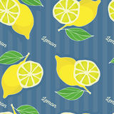 Modelo inconsútil del limón Imagen de archivo libre de regalías