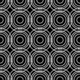Modelo inconsútil del lunar E halftone Fondo geométrico Textura del garabato Imagen de archivo