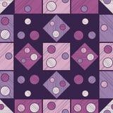 Modelo inconsútil del lunar Fondo geométrico brushwork Trama de la mano Textura del garabato Imagen de archivo libre de regalías