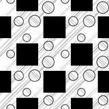 Modelo inconsútil del lunar Fondo geométrico brushwork Trama de la mano Textura del garabato Fotos de archivo libres de regalías