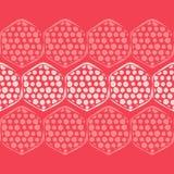 Modelo inconsútil del lunar Formas de hexágonos Fondo geométrico Puntos, círculos y botones libre illustration